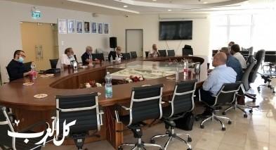 مدير عام بنك اسرائيل حيزي كالو يزور بلدية سخنين