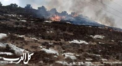 الضفة| اندلاع حريق في منطقة اشواك