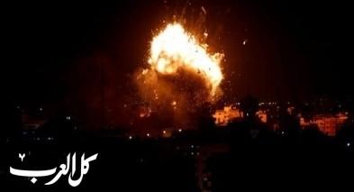 قصف اسرائيلي يستهدف عدة مواقع في قطاع غزة