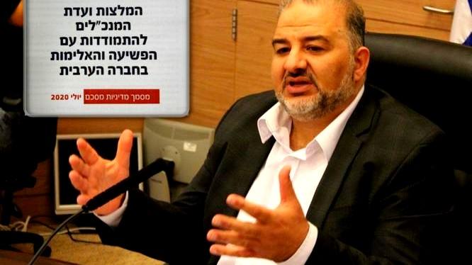 تسليم الخطة الحكومية لمكافحة الجريمة بالمجتمع العربي