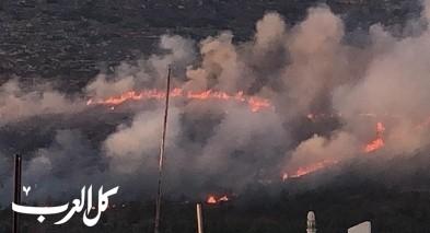 كفرمندا: اندلاع حريق هائل بالقرب من المنازل