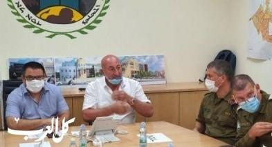 الوزير بيطون في زيارة لمجلس دير الأسد