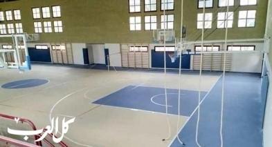 كفر ياسيف  الانتهاء من بناء مشروع القاعة الرياضية