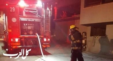 اندلاع حريق داخل منزل في أم الفحم