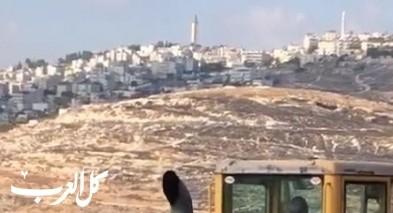 القدس: هدم وتجريف بأراضي العيساوية