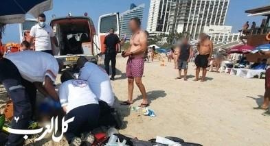 هرتسليا: غرق رجلين (40 و45 عاما) وحالتهما خطيرة