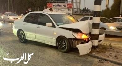 اصابة بين متوسطة وخطيرة بحادث طرق في مدينة قلنسوة