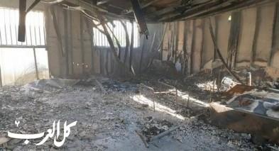 حورة: مجهولون يضرمون النار في بستان