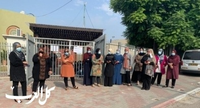 عارة: أهالٍ يحتجون أمام المدرسة الإعدادية