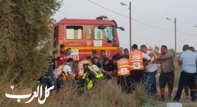 مصرع عامل (40 عامًا) اثر سقوطه عن ارتفاع في اشدود