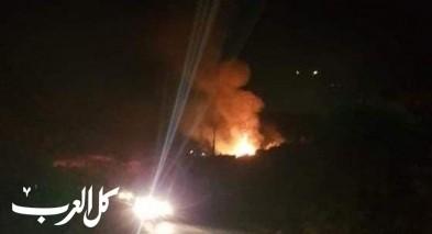 سخنين: إندلاع حريق كبير بمنطقة العين