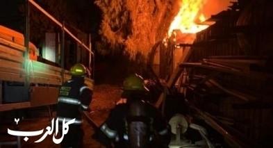 اللد: اندلاع حريق داخل كراج سيارات