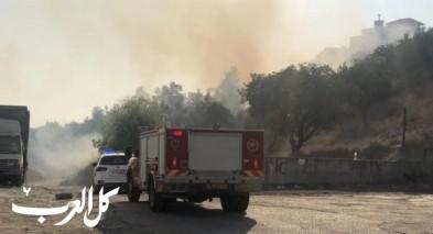 اندلاع حريق كبير في بلدة كفرقرع