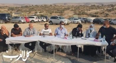 عائلة أبو القيعان تعقد مؤتمرا صحفيا