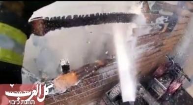 أم الفحم: اندلاع حريق داخل مبنى