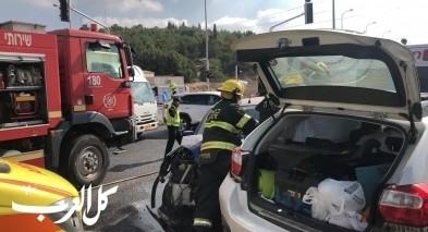 حادث طرق على شارع 85 قرب احيهود