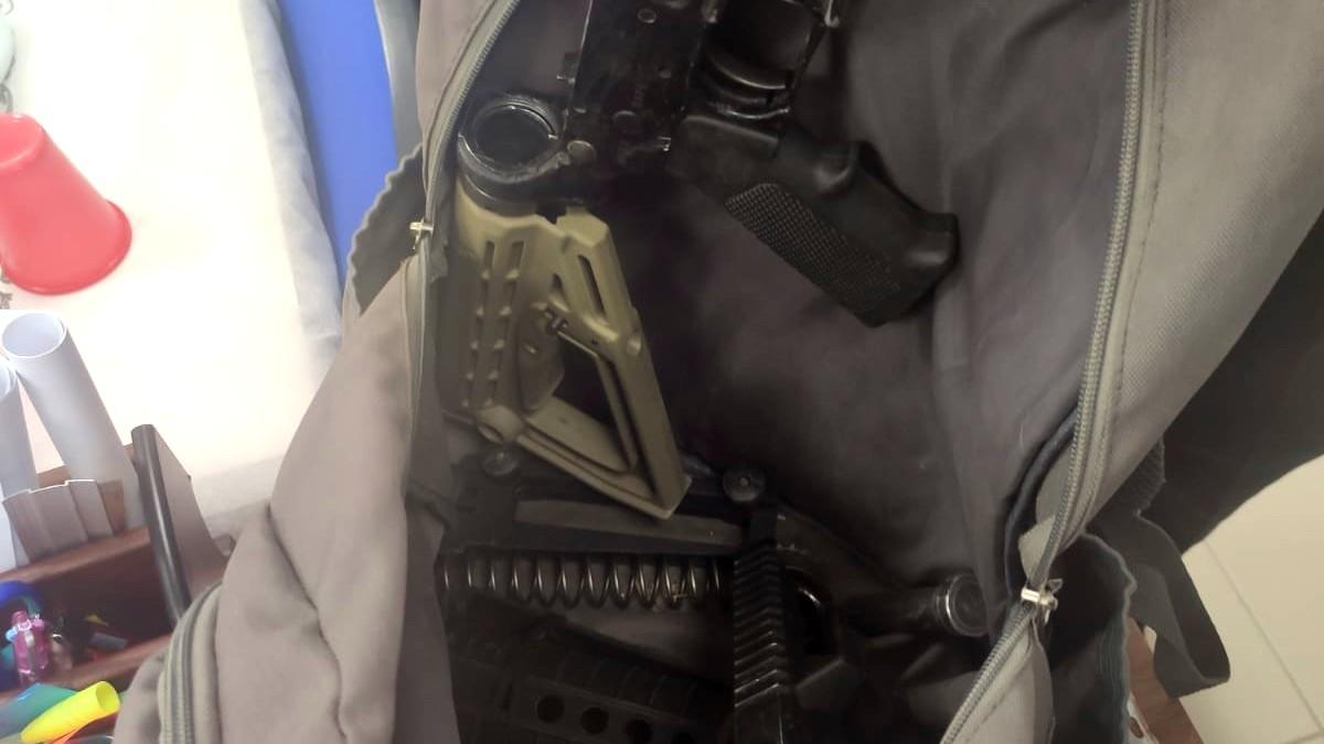 قلنسوة: العثور على حقيبة بداخلها ذخيرة