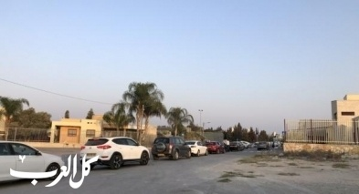 كفرقرع: توافد الأهالي لمحطة فحص كورونا