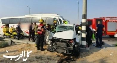 إصابة شابة بحادث طرق قرب أبو تلول