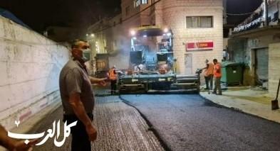 يافة الناصرة: البدء بتعبيد القسم الثاني من الشارع