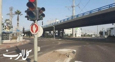 شوارع حيفا والكريوت خالية بعد الإغلاق