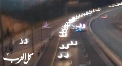 مسيرة سيارات في طريقها لمظاهرة القدس