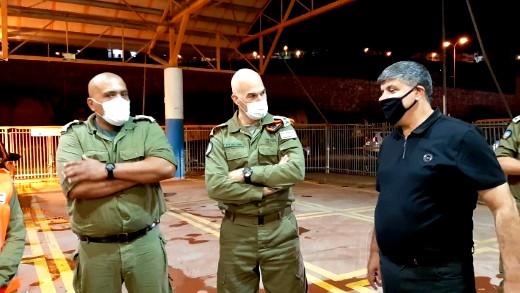 ام الفحم: قائد الجبهة الداخلية يزور محطة الفحص