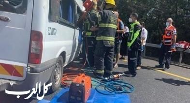 7 اصابات بحادث طرق على شارع 89