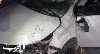 إصابة شخص بحادث طرق قرب معاوية