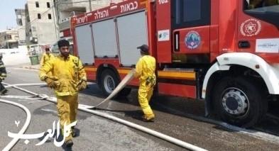 الناصرة: اصابة 9 رجال اطفاء بالكورونا