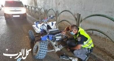 اصابة شاب اثر تعرضه لحادث طرق قرب مفترق الزرازير