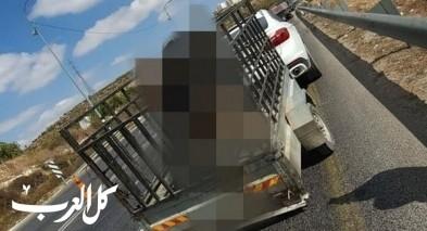الضفة: ضبط سائقًا نقل حمولة زائدة