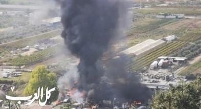 فرديس: انقطاع  الكهرباء بعد احتراق محل خضار وسيارات
