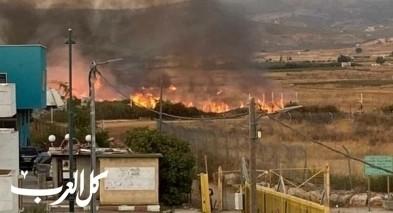 وحدة متطوعي الغجر تساهم باخماد حريق