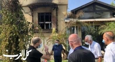 حرائق: وفد الجبهة يلتقي مع رئيس بلدية نوف هجليل