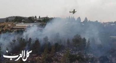 طائرات وطواقم الاطفاء عملت على اخماد حرائق في الشمال