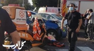 بيتح تكفا: اصابة شخصين اثر حادث طرق