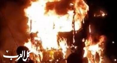 البعينة نجيدات: احراق شاحنة تعود لشخص من طرعان
