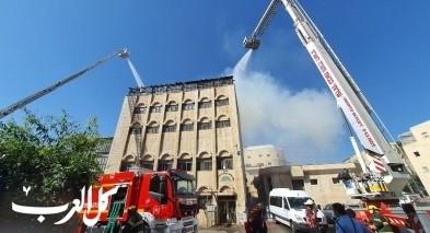 القدس: اندلاع حريق هائل في مبنى مدرسة يهودية للتوراة