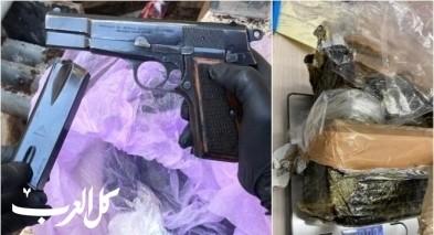 ضبط اسلحة ومخدرات في المشهد وكفركنا