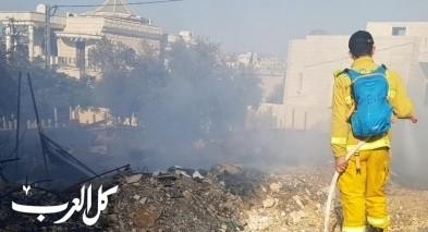 باقة الغربية: اندلاع حريق بين البيوت