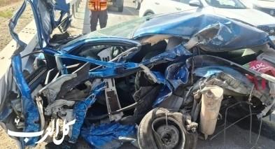 اصابتان جراء حادث طرق قرب رهط