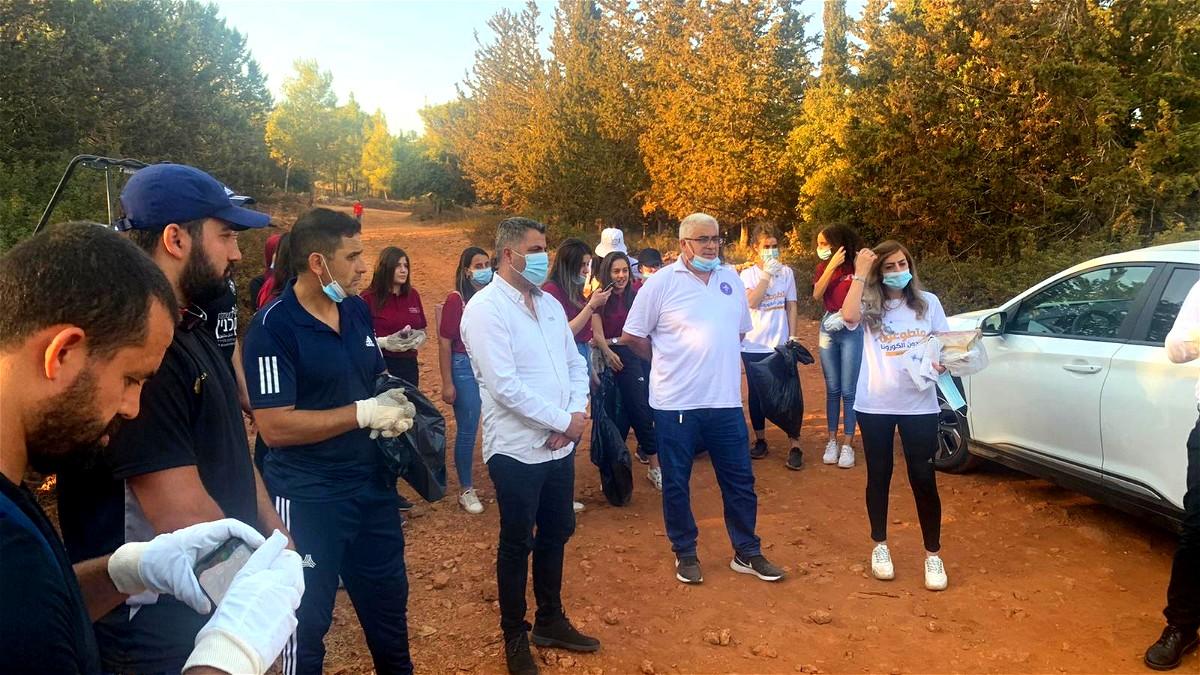 انطلاق مشروع تنظيف جبل مرسان بحضور رئيس بلدية سخنين