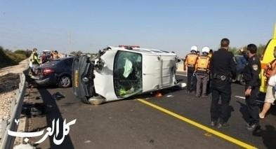 حادث طرق على شارع 34 يسفر عن اصابات متفاوتة