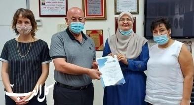 شهادة تقدير لقسم الرفاه الإجتماعي بدير الاسد