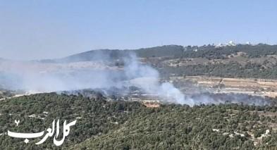 اندلاع حريق كبير في احراش ببيت جن