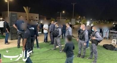 رهط: الشرطة تفرق عشرات المشاركين في عرس