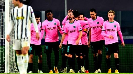 يوفنتوس يسقط أمام برشلونة بهدفين في دوري أبطال أوروبا