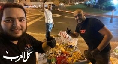 أم الفحم: بذور الخير بالمدينة توزع الحلوى على المواطن