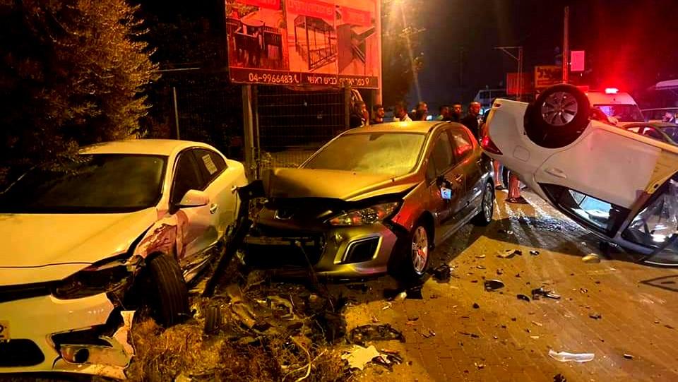 اصابة شخصين بحادث طرق في بلدة كفرياسيف